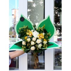Buchet fluture verde